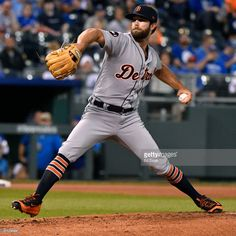 Daniel Norris #44 of the Detroit Tigers throws in the first inning against the Kansas City Royals at Kauffman Stadium on September 28, 2017 in Kansas City, Missouri.