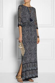 Tory Burch|Carey printed silk-georgette maxi dress