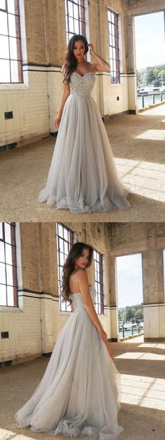 New Arrival A-Line Spaghetti Straps Floor-Length Prom Dress with Beading,325