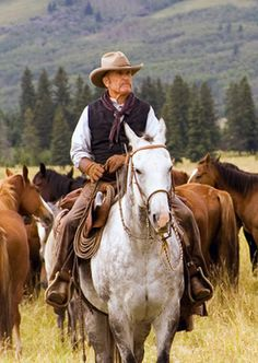 "Robert Duvall: ""We're all travelers in this world. From the sweet grass to the packing house. Birth 'til death. We travel between the eternities."" ~as Prentiss Ritter in ""The Broken Trail"""