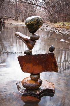 man made, but beautiful - Gravity Glue Pebble Stone, Stone Art, Rock Sculpture, Stone Sculptures, Sculpture Ideas, Stone Balancing, Stone Mountain, Art Object, Public Art