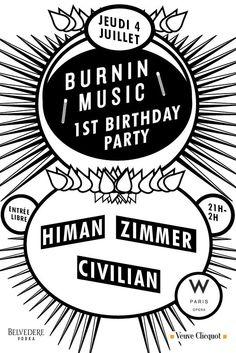 Burnin Music | W Lounge | Paris | https://beatguide.me/paris/event/w-lounge-w-paris-opera-burnin-music-1st-birthday-party-20130704