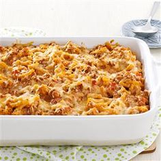 Chili Mac & Cheese Recipe -This Mexican/Southwestern casserole of comfort food is high on taste and low on the scale of difficulty—a delicious combination. —Mary Aguilar, Shelby, Ohio