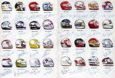 1976 Formula 1 Driver Helmets