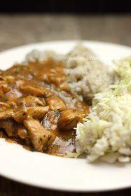 Feed Me Better: Pomysł na obiad - kurczak w lekkim sosie. Diet Recipes, Cooking Recipes, Polish Recipes, I Love Food, I Foods, Risotto, Food And Drink, Menu, Rice