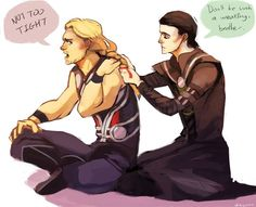 And fan art loki thor