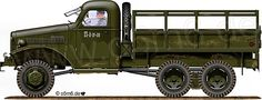 Engines of the Red Army in WW2 - International M-5-6-318 2.5-ton 6x6 Cargo Truck