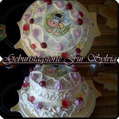 2-stöckige Buttercremé-Torte für eine Freundin zum Geburtstag