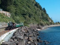 Oregon Coast Scenic Railroad in Tillamook Oregon. On select days from May through September, you can board a restored steam train for a 90-minute jaunt to the town of Garibaldi and back.