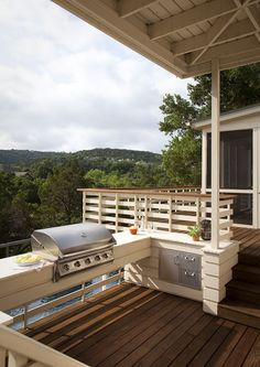 raised outdoor kitchen overlooking a beautiful canyon near mount bonnell in austin