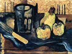 Georges Braque, Glass, Fruit and Knife, 1923