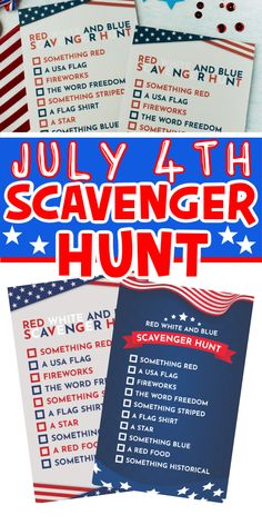 This 4th of July scavenger hunt is perfect for a little family fun! Simply print, hand out the scavenger hunts, and see who can find the items on the list first!