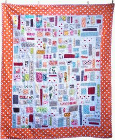 this ticker tape quilt is so colorful and fun. from sewtakeahike