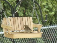 Swing Bird Feeder Poplar. (handcrafted) .. Made In The Usa.. Rustic, Bird…