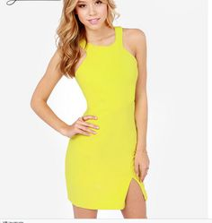 2015 Summer New Slim Sexy Slit A Short Skirt Hanging Neck Strap Backless Piece Dress on Luulla