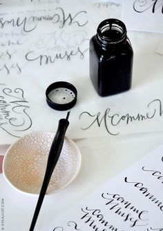 calligraphy via Mon Carnet