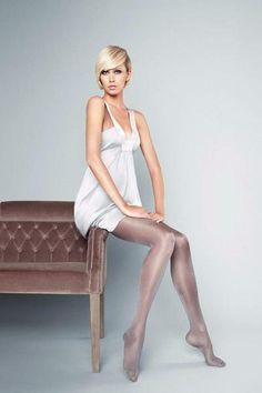 e9288fca22375 Veneziana Ines 20 Den Tights pantyhose Glossy Hosiery Nylons Size[S]  Grey-Lucido