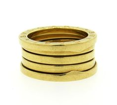 Bulgari Bvlgari B. Zero1 18K Gold Wide Band Ring  Featured in our upcoming auction on June 28!