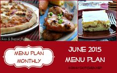 Mommy's Kitchen - Home Cooking & Family Friendly Recipes: June Menu Plan - Menu Plan Monthly