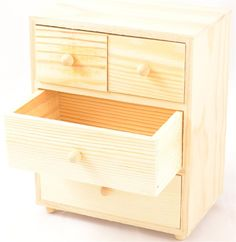 Wood Chest with 4 Drawers