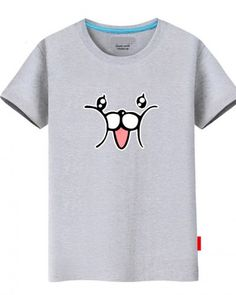 Funny cat Puck t shirt Re Zero Starting Life in Another World tee for teenage Teen Shorts, Funny Rabbit, Re Zero, Face Design, Shirts For Teens, Animal Faces, Guys And Girls, Printed Cotton, Hiphop