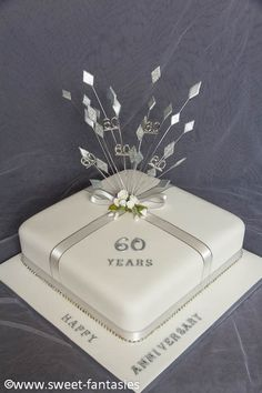 60th wedding anniversary cake 60th wedding anniversary cake 450x675