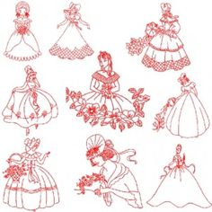 Image Search Results for free redwork embroidery patterns multiple ladies embroidery pattern Embroidery Blanks, Machine Embroidery Patterns, Applique Patterns, Vintage Embroidery, Embroidery Applique, Cross Stitch Embroidery, Embroidery Designs, Christmas Applique, Embroidery Techniques