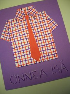 Isänpäiväkortti - Irenen käsityö- ja askarteluideat - Vuodatus.net Cool Presents, Primary Education, Fathers Day Cards, Kindergarten Activities, Little Ones, Origami, Crafts For Kids, Daddy, Crafty