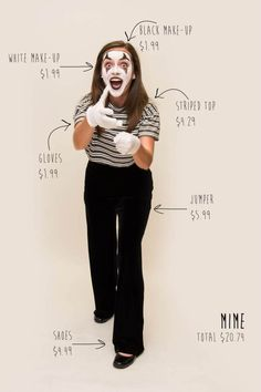Mimes rule #DIY Halloween costumes from Goodwill.