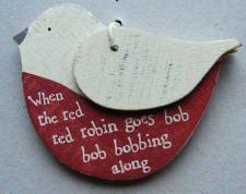 wooden bird ornament/tag