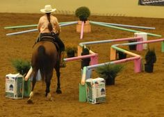 23 Horse Training and Obstacle Course Ideas - meowlogy - Pferd Horse Training Tips, Horse Tips, Trail Riding, Horse Riding, Ranch Riding, Horse Exercises, Horse Games, Riding Lessons, Equestrian Outfits