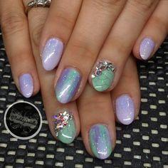 """Gel manicure using @akzentz luxio and optionz lines :)"""