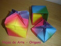 Origami Folhas de Arte: Caixa Russa