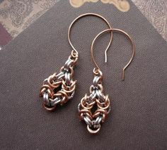 How to Make Easy Chain Maille Earrings Tutorials - The Beading Gem's Journal