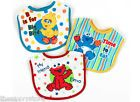 New Baby Infant Toddler 3 pack Sesame Street Bibs Elmo Cookie Monster Big Bird - http://baby.goshoppins.com/feeding/new-baby-infant-toddler-3-pack-sesame-street-bibs-elmo-cookie-monster-big-bird/