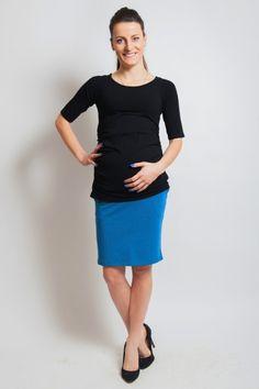 Krátké černé tričko pro těhotné Dresses For Work, Fashion, Moda, Fashion Styles, Fashion Illustrations