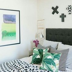 Jess from the Eclectic Creative dreams up this dreamy bedroom set up with one of our framed prints!