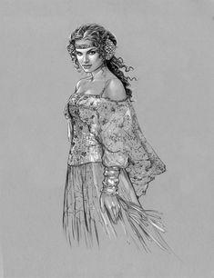 Padme Gold Picnic Gown by jasonpal on DeviantArt