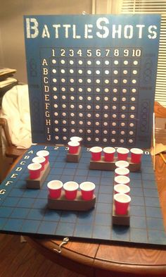 DIY BattleShots  22 x 22 MD4 boards, hinges, wooden boats, handle, and latch to keep closed