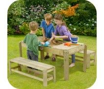 PLUM® PREMIUM WOODEN ACTIVITY TABLE AND BENCHES