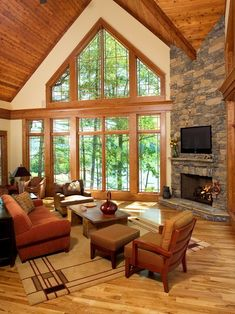 Traditional Living Room Wood Stove Design, Pictures, Remodel, Decor and Ideas - page 11