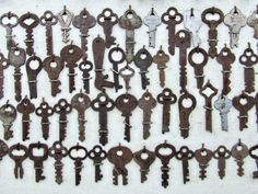 Vintage keys can be used to create artwork.  Look for vintage key collections at Estate ReSale & ReDesign, LLC in Bonita Springs, FL