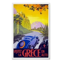 Poster de viagens da piscina da visita do vintage por VintagePosters1900