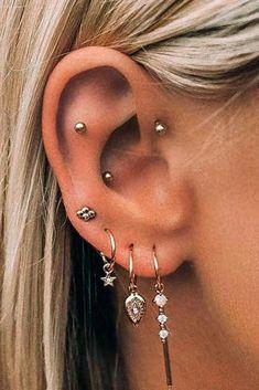 No Piercing Cartilage Ear Cuff Snake/piercing imitation/fake faux piercing/ear jacket manchette/ohrklemme ohrclip/conch cuff/false pierce - Custom Jewelry Ideas Tragus Piercings, Piercings Corps, Piercings For Men, Piercing Face, Different Ear Piercings, Cool Ear Piercings, Ear Peircings, Types Of Ear Piercings, Multiple Ear Piercings