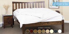 Beds > Slatted Bed and Mattress Danish Bedroom, Warren Evans, Cambridge House, Bed Images, Bed Slats, Wood Beds, Bed Mattress, Spare Room, Handmade Wooden