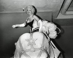 Marilyn Monroe at the Ringling Brothers Circus Charity Gala, Madison Square Garden, March 1955.
