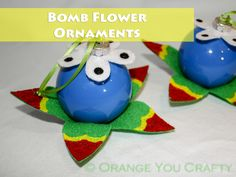 Orange You Crafty - Legend of Zelda Bomb Flower Ornaments header