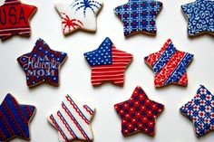 Gorgeous Patriotic Cookies - 4th of July #Recipe #USA