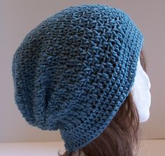 This is my first new slouchy hat of the new patterns. It was named after the German Shepherd that was part of our family growing up. Even though she was female this is a great unisex hat and is perfect for a guy in an aran or grey shade.