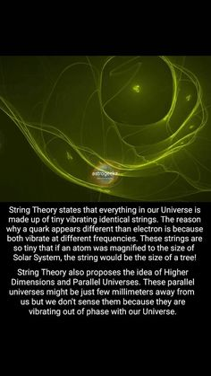 You can find String theory and more on our website. Theoretical Physics, Physics And Mathematics, Quantum Physics, Physics Theories, Quantum Consciousness, Cool Science Facts, Science Quotes, Einstein, Astronomy Facts